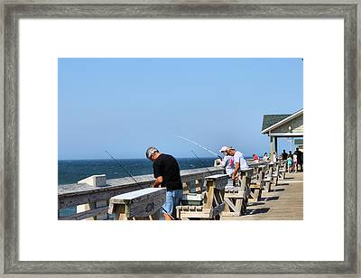 Fishing Is Serious Business Framed Print by Carolyn Ricks
