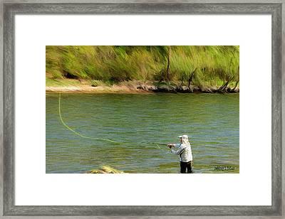 Fishing Lake Taneycomo Framed Print by Jeff Kolker