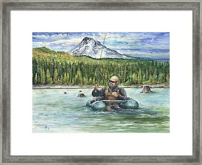 Fishing Laurance Framed Print by Arthur Fix