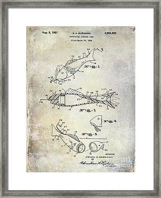 Fishing Lure Patent 1959 Framed Print by Jon Neidert