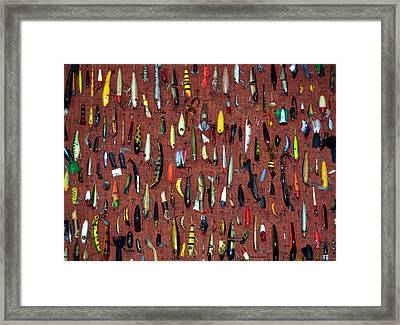 Fishing Lures 02 Framed Print by Thomas Woolworth
