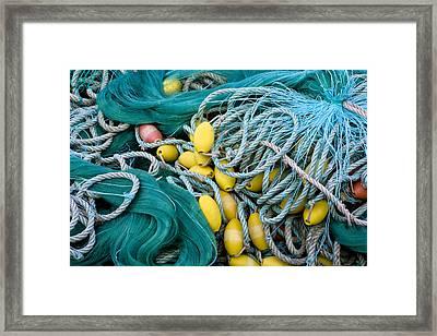 Fishing Nets Framed Print by Frank Tschakert