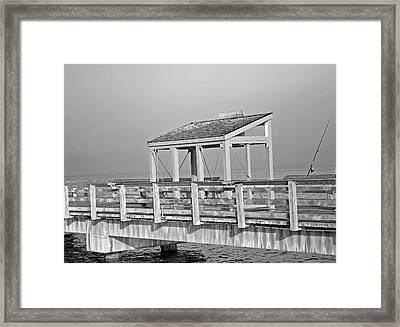 Fishing Pier Framed Print by Tikvah's Hope