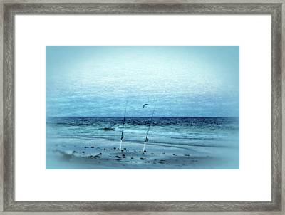 Fishing Framed Print by Sandy Keeton