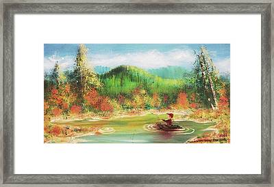 Fishing Framed Print by Suzanne  Marie Leclair
