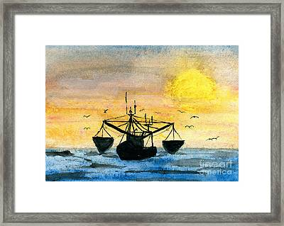 Fishing Tackle Framed Print by R Kyllo