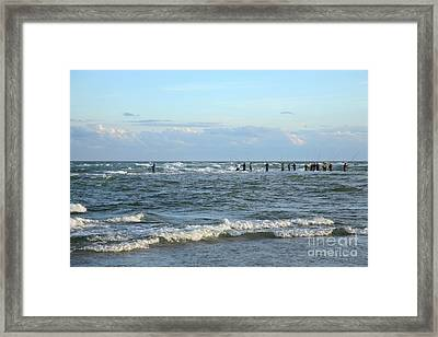 Fishing The Point At Cape Hatteras Framed Print by Suzi Nelson