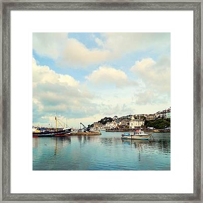 Fishing Town Framed Print by Sharon Lisa Clarke