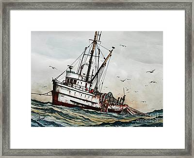 Fishing Vessel Dakota Framed Print by James Williamson