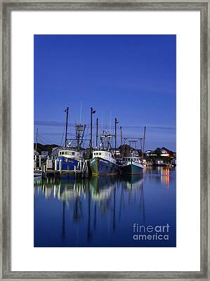 Fishing Village Of Menemsha Framed Print by John Greim