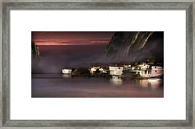Fishing Village Framed Print by Radoslav Nedelchev