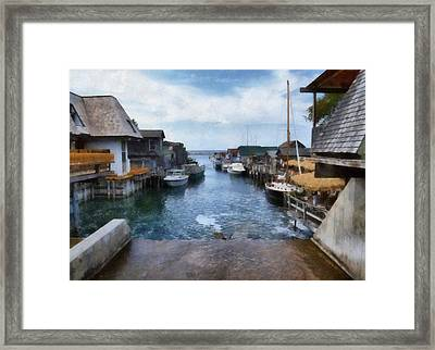 Fishtown Leland Michigan Framed Print by Michelle Calkins