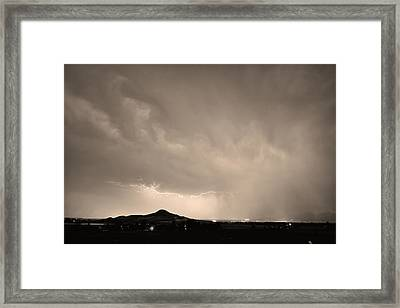 Fist Bump Of Power Sepia Framed Print by James BO  Insogna