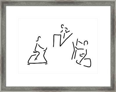 Fitness Hometrainer Crosstrainer Sport Framed Print by Lineamentum