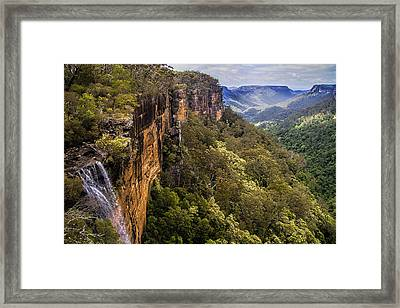 Fitzroy Falls In Kangaroo Valley Australia Framed Print by David Smith