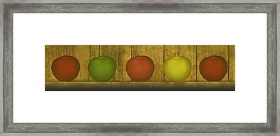 Five Apples  Framed Print by David Dehner