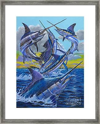 Five Billfish Off00136 Framed Print by Carey Chen