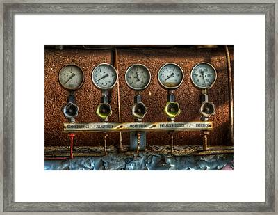 Five Gauges Framed Print by Nathan Wright
