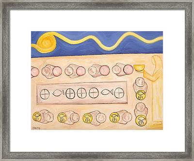 Five Loaves And Two Fish Framed Print by Patrick J Murphy