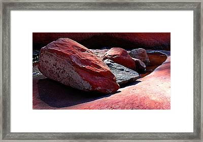 Five Rocks Framed Print by Ron Regalado