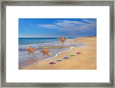 Five Star Beach Yippe Yah Framed Print by Betsy C Knapp