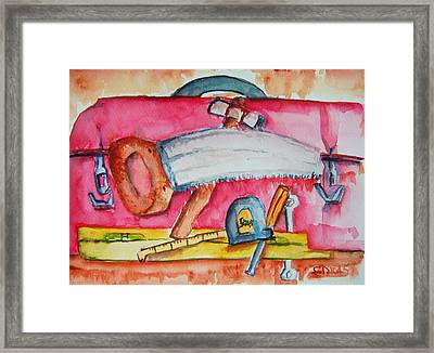 Fix And Finish It Framed Print by Elaine Duras