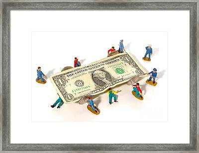 Fixing The Economy Framed Print by Olivier Le Queinec