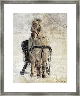 Fjord Pose Framed Print by Wanda Clowater