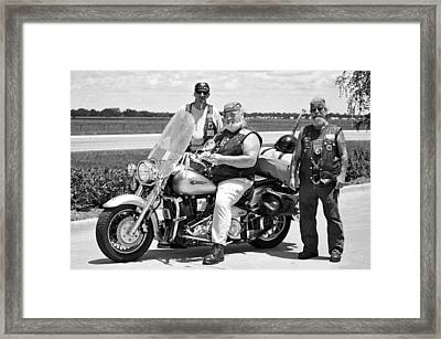 Fla Post 4143 Vfw Riders Bw Usa Framed Print by Sally Rockefeller