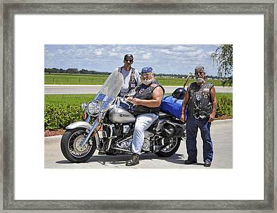 Fla Post 4143 Vfw Riders Color Usa Framed Print by Sally Rockefeller