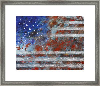 Flag 2012 Framed Print by Eva Hoffmann