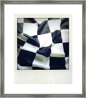 Flag Framed Print by Les Cunliffe