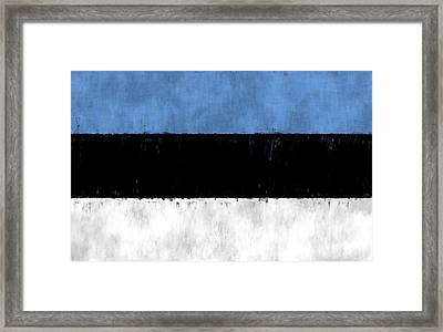Flag Of Estonia Framed Print by World Art Prints And Designs