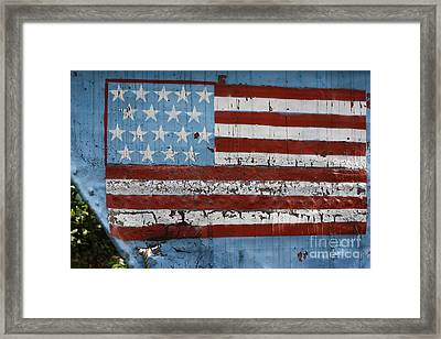 Flag Of Freedom Framed Print by Chuck  Hicks