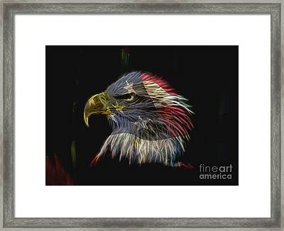 Flag Of Honor Framed Print by Deborah Benoit