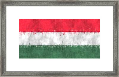 Flag Of Hungary Framed Print by World Art Prints And Designs