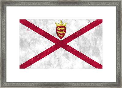 Flag Of Jersey Framed Print by World Art Prints And Designs