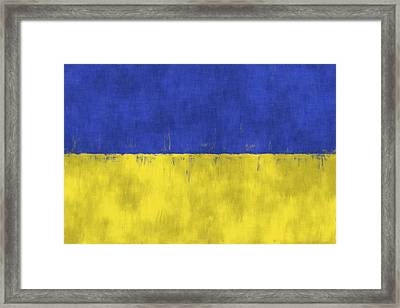Flag Of Ukraine Framed Print by World Art Prints And Designs
