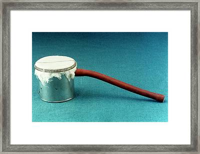 Flagg Can Anaesthetic Device Framed Print by Science Photo Library