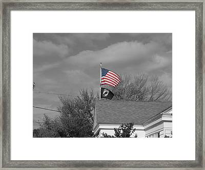 Flags Auburn Post Office Framed Print by Mike McCool