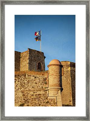 Flags Fly Above The Royal Castle Framed Print by Brian Jannsen