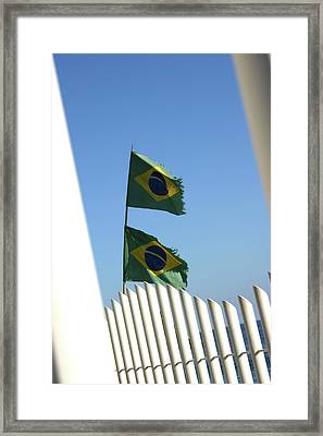 Flags In The Wind Framed Print by Frederico Borges