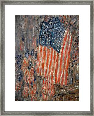 Flags On The Waldorf Framed Print by Georgia Fowler