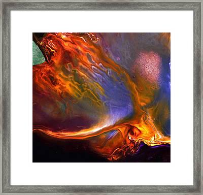 Flam Of Joy - Liquid Abstract Art By Kredart Framed Print by Serg Wiaderny