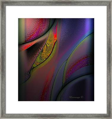 Flame-b Framed Print by Ines Garay-Colomba