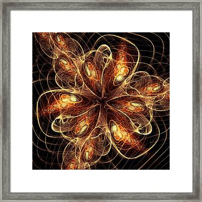 Flame Flower Framed Print by Anastasiya Malakhova