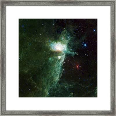 Flame Nebula Framed Print by Adam Romanowicz