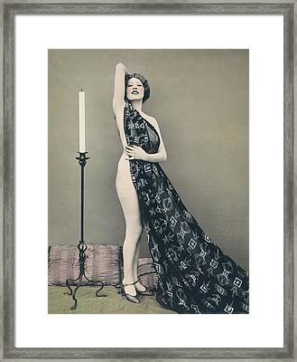 Flame Of Passion Framed Print by Underwood Archives