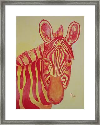Flame Framed Print by Rhonda Leonard