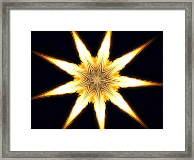 Flame Star Framed Print by Erica  Darknell